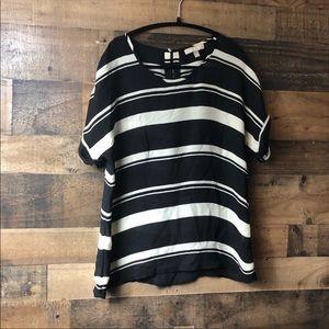 Banana Republic Black & White Stripe Blouse